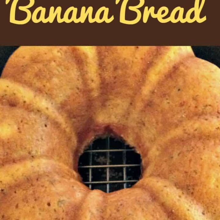 Nanny's BEST Banana Bread is a lovely soft, moist cake and absolutely delicious with the glazed poured over! A nice, easy recipe and freezer friendly too!   Lovefoodies.com