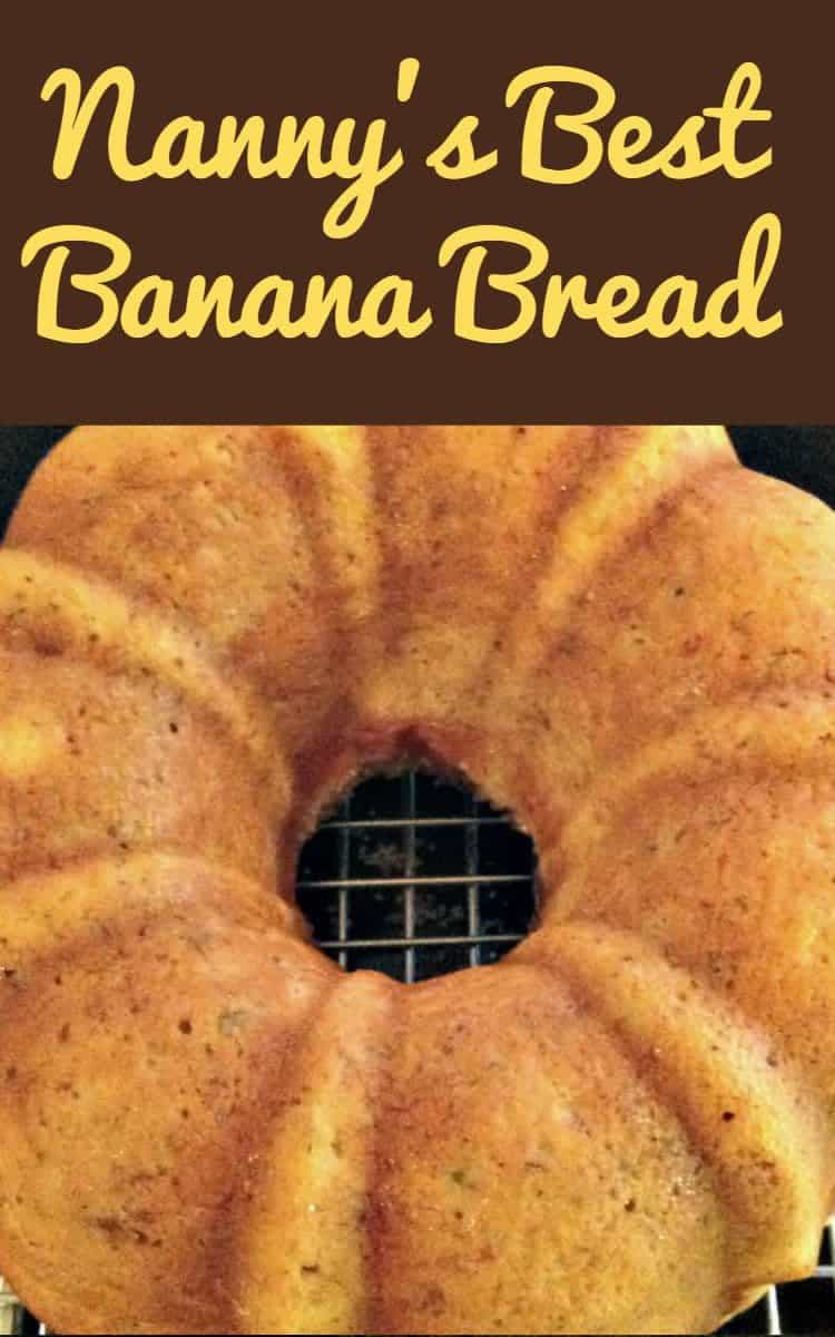 Nanny's BEST Banana Bread is a lovely soft, moist cake and absolutely delicious with the glaze poured over! A nice, easy recipe and freezer friendly too! | Lovefoodies.com