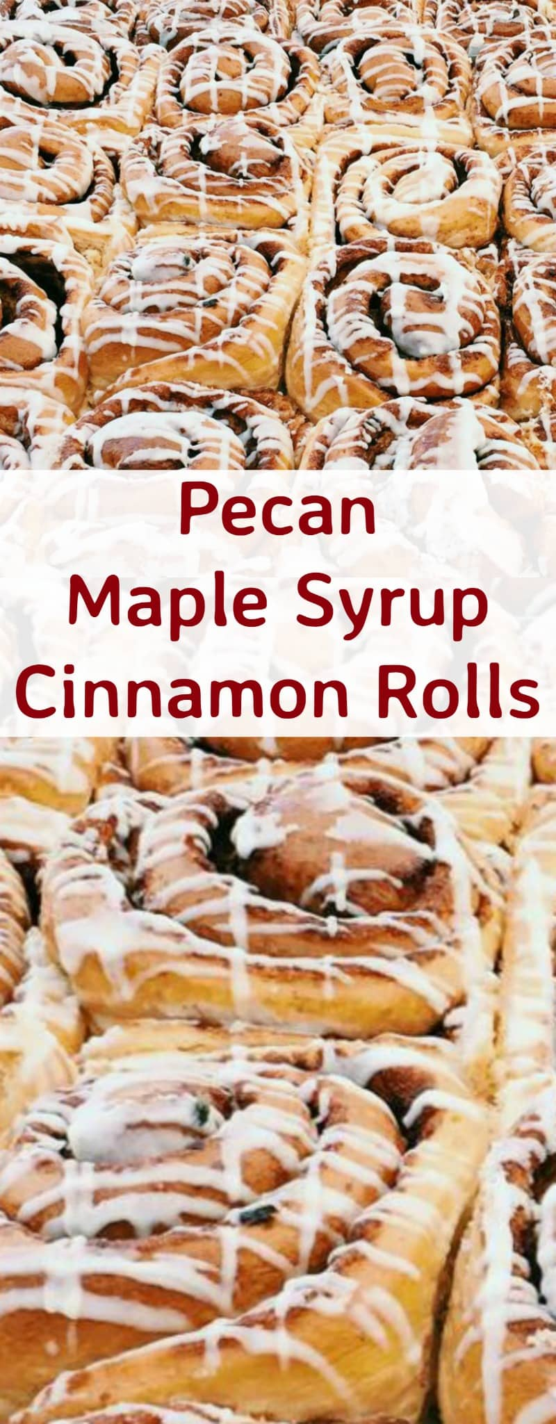 Pecan Maple Syrup Cinnamon Rolls. These are so yummy! These rolls are soft, sticky, loaded with pecans and oozing with delicious Maple Syrup. So delicious served warm from the oven!   Lovefoodies.com