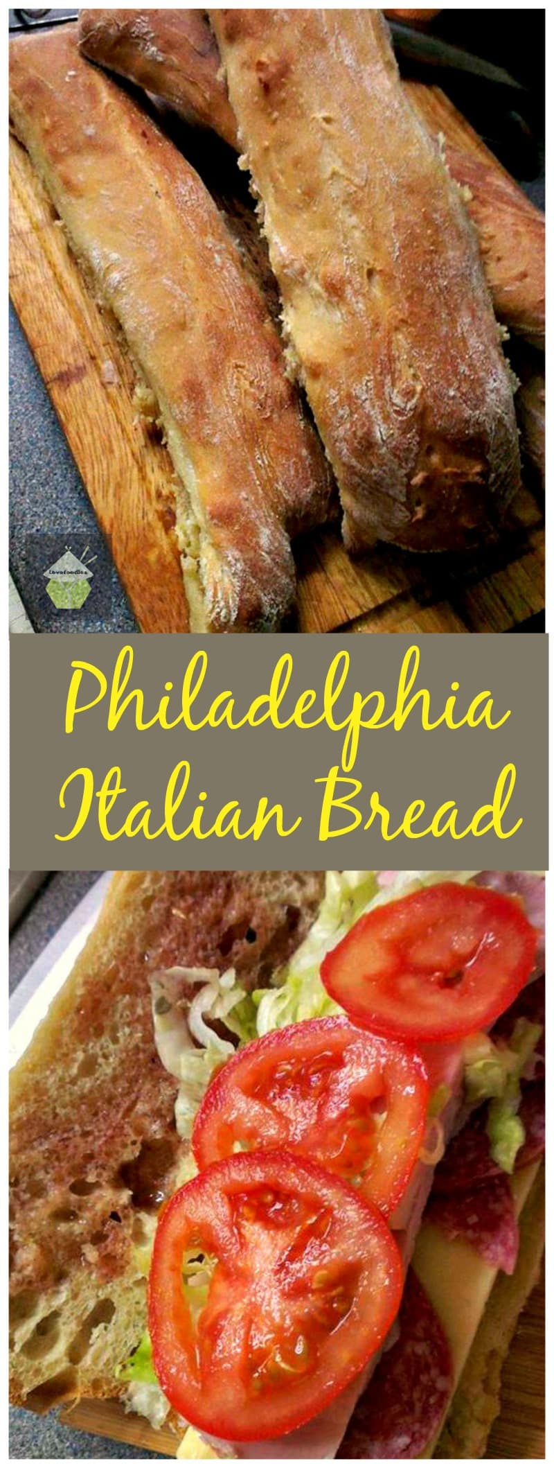 Philadelphia Italian Bread - Easy recipe made by hand and great for Cheese Steak Sandwiches, cutting into slices and using in dips..fantastic party food too!