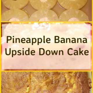 Pineapple Banana Upside Down Cake