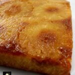 Easy Pineapple Upside Down Cake. This is a very easy, made from scratch recipe. The cake is so soft and moist, bursting with pineapple flavor. Fuss free and delicious! | Lovefoodies.com