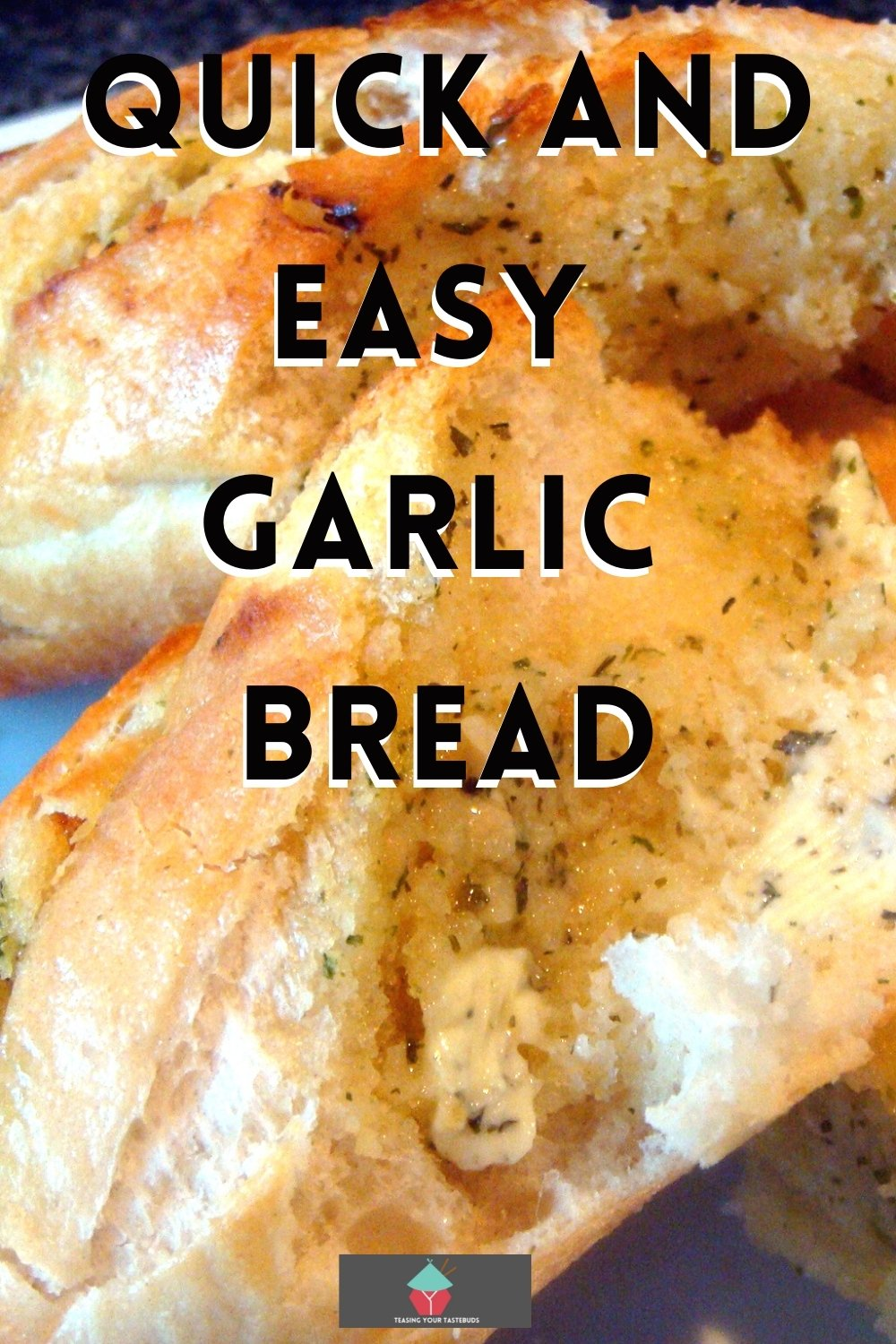 Quick and Easy Garlic Bread is a fuss free recipe, oven baked French baguettes filled with homemade garlic butter. A great side dish for dinner or party food