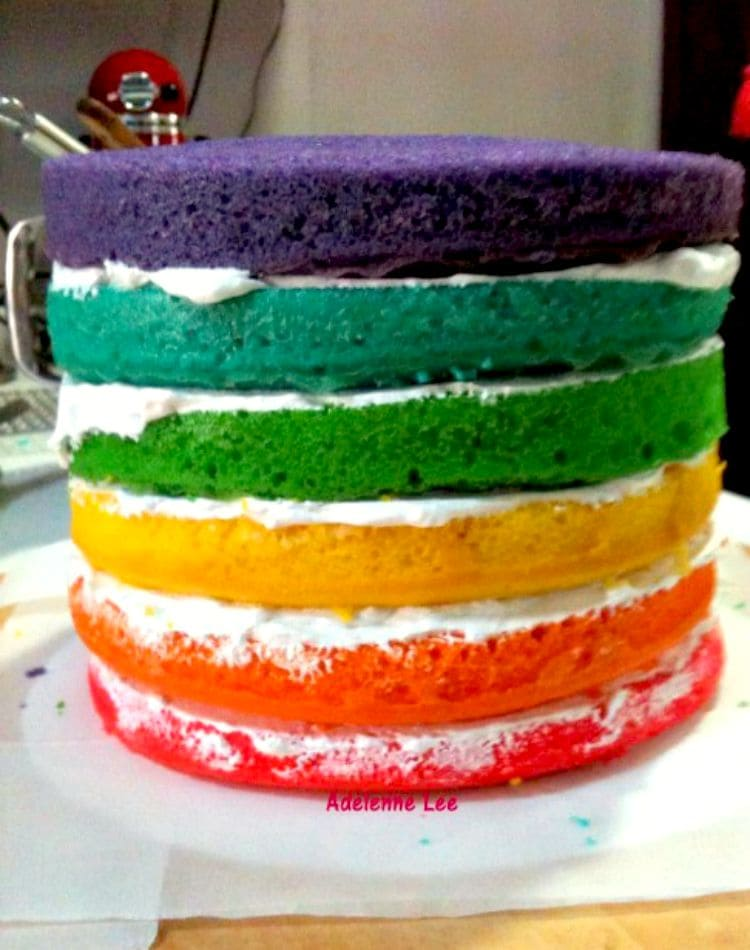 Rainbow Birthday Cake Lovefoodies