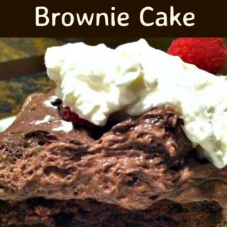 Raspberry Chocolate Mousse Brownie Cake