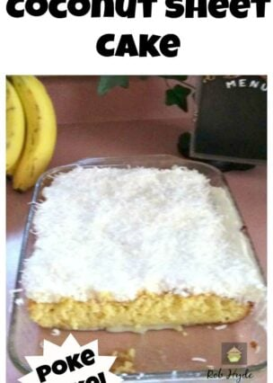 Super Moist Coconut Sheet Cake - Simply 'out of this world'!