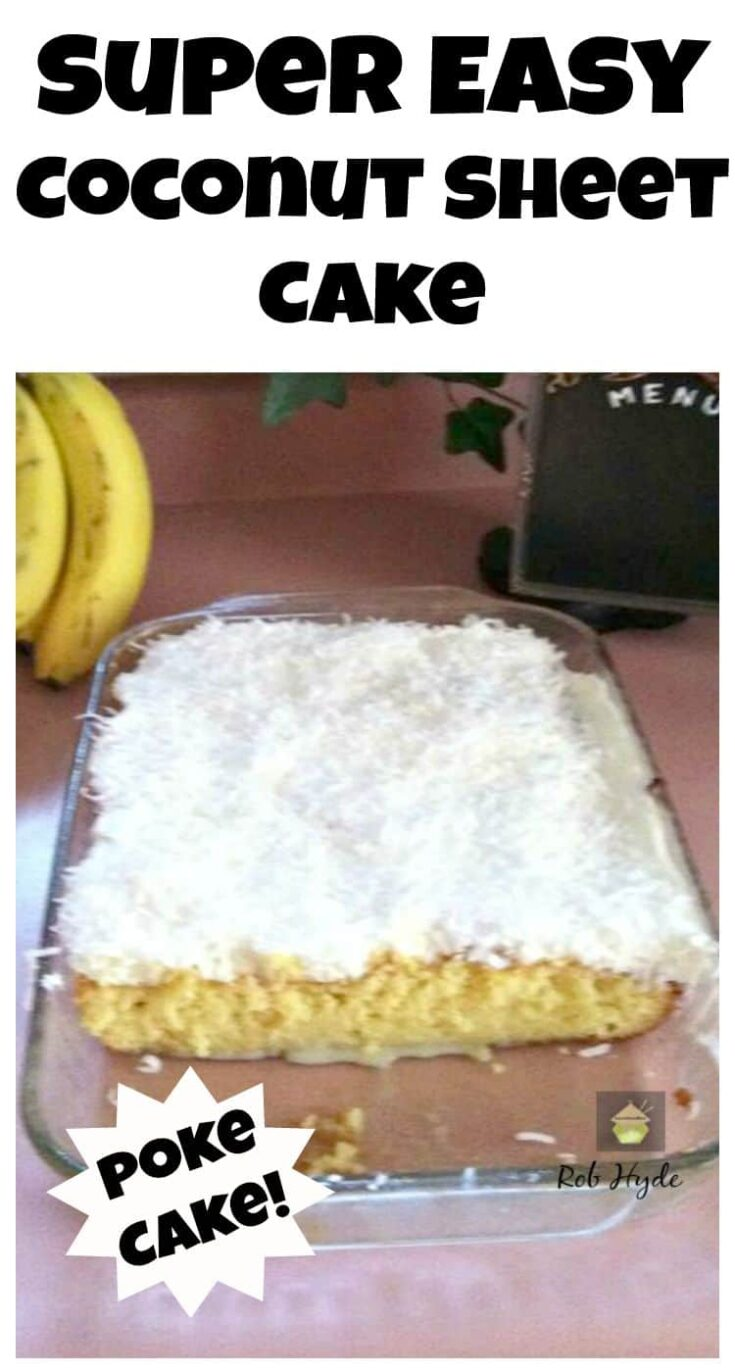 Super Moist Coconut Sheet Cake