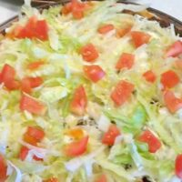 Taco Pizza. Always popular and really tasty!
