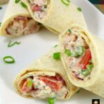 Deluxe Chicken Salad Wraps. These little wraps are great for parties, lunches, suppers, or any time! It's a great way to use up left over chicken (or turkey), and the recipe is nice and easy, with no fuss. Delicious! | Lovefoodies.com