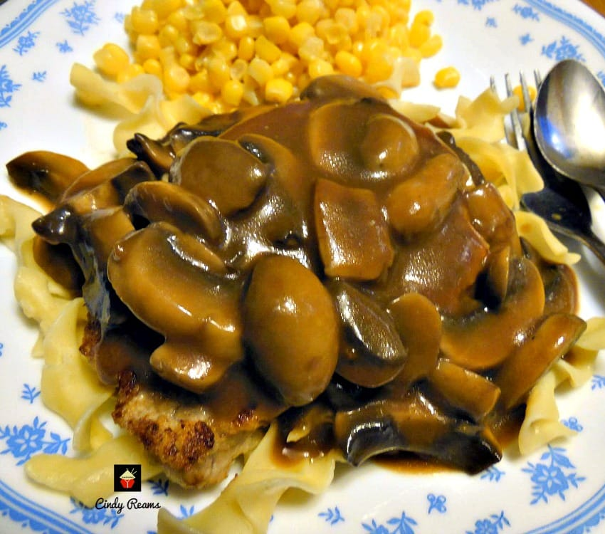 Jagerschnitzel! This is a lovely easy recipe for Pork pan fried in butter then topped with a delicious mushroom sauce. Very popular In parts of Germany and often served with Spaetzle or pasta.   Lovefoodies.com