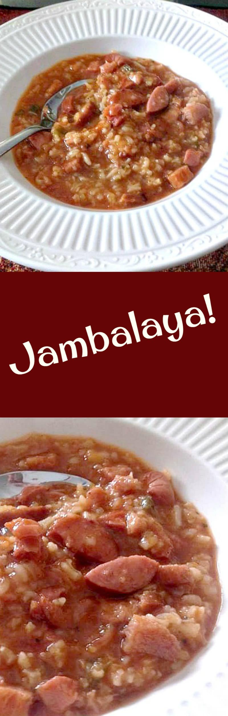Jambalaya. This is a great family recipe, made from scratch with regular ingredients. Really fantastic flavor and always a hit. Serve as a dinner or pot lucks, parties etc. | Lovefoodies.com