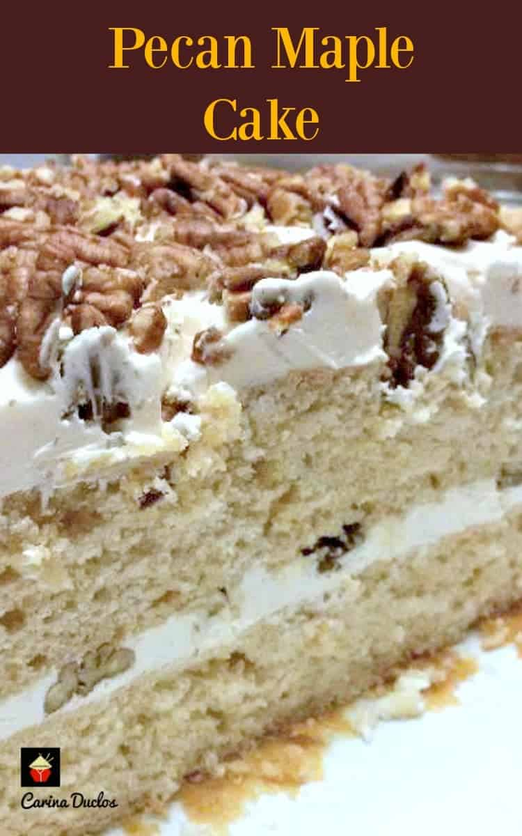 Pecan Maple Cake This Is A Lovely Soft Moist With Delicious Pecans