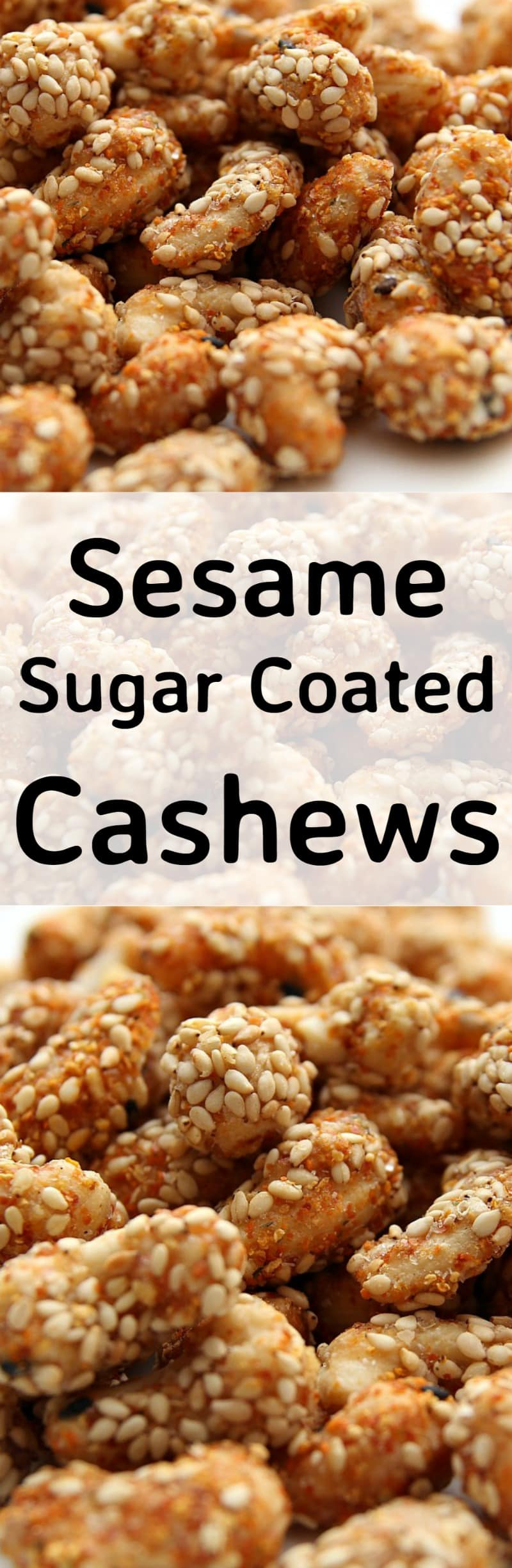 Sesame Sugar Coated Cashews. These are delicious served warm! The sugar coating along with the sesame and other spices makes for a lovely flavor. Recipe also has other flavor suggestions for you to try so make up a batch soon!  #Christmas #snacks #partyfood