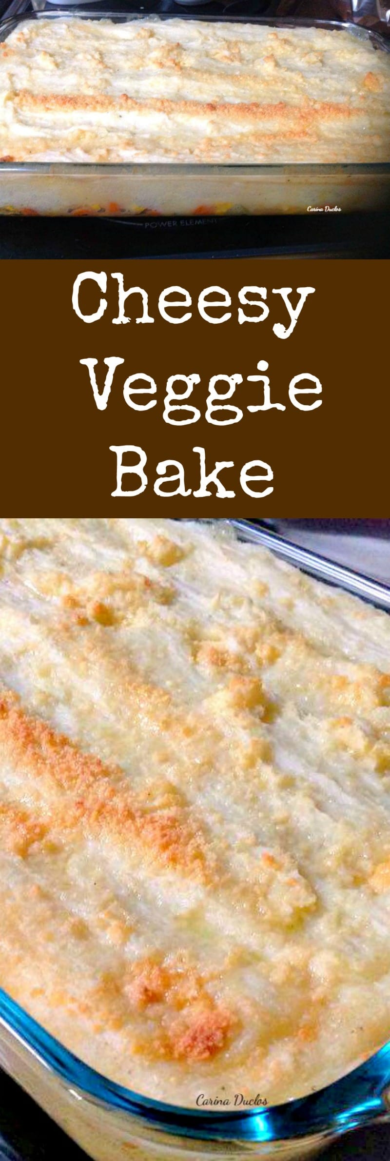 Cheesy Veggie Bake! This is an incredibly easy and versatile recipe, suitable as a side dish or a main meal. Options to add extra cheese for the cheese lovers too! Perfect for Thanksgiving. Make ahead and freeze then simply heat through when you want to serve. | Lovefoodies.com