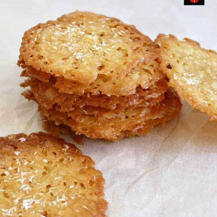 Coconut Thins! If you like crisp, caramel,coconut and sweet then these little sweet treats are for you! They're absolutely delicious and will store for up to a week if you wish to make ahead. They also make lovely gifts too! Nice easy recipe using regular ingredients. | Lovefoodies.com