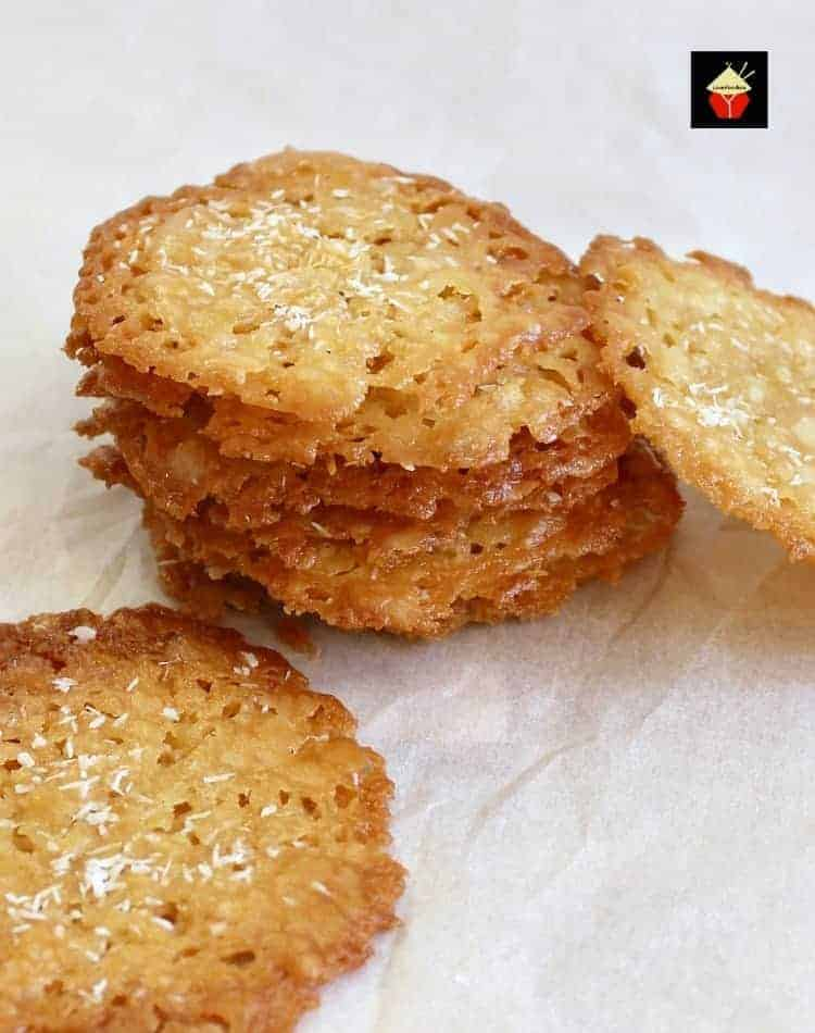 Coconut Thins! If you like crisp, caramel,coconut and sweet then these little sweet treats are for you! They're absolutely delicious and will store for up to a week if you wish to make ahead. They also make lovely gifts too! Nice easy recipe using regular ingredients.   Lovefoodies.com