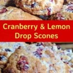 Cranberry and Lemon Drop Scones