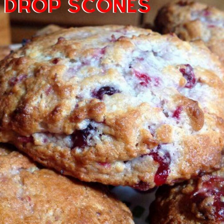 Cranberry and Lemon Drop Scones. These are wonderful little scones using left over cranberry sauce. They're great tasting, soft and moist. Delicious served warm or cold with a spread of butter! Only take minutes to make and incredibly easy!