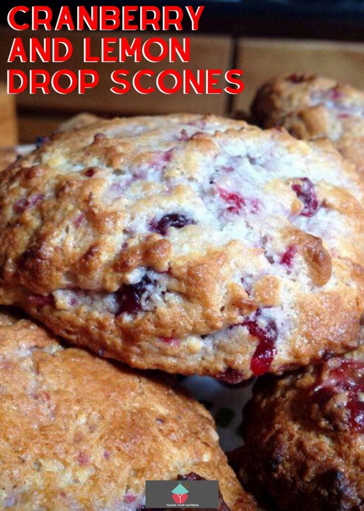 Cranberry and Lemon Drop SconesH