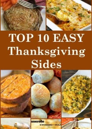 Here's a selection of the BEST TOP 10 Side dishes from talented bloggers. All tried and true recipes and fit for your very special Thanksgiving table. Easy and delicious that's for sure!