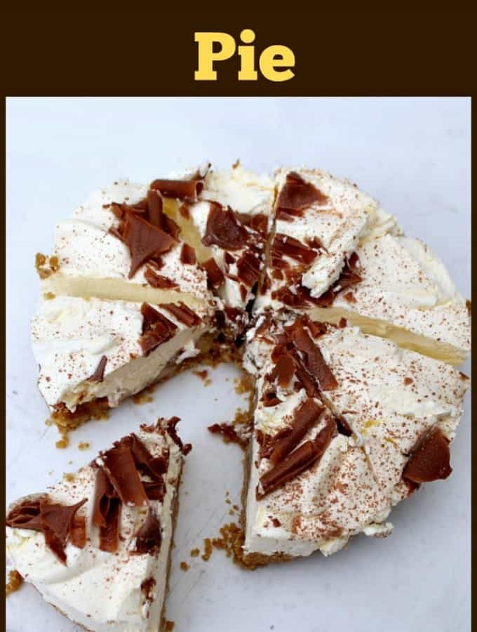 Banoffee Pie. This is a wonderful creamy no bake dessert with layers of banana and caramel. Very easy to make and always popular.   Lovefoodies