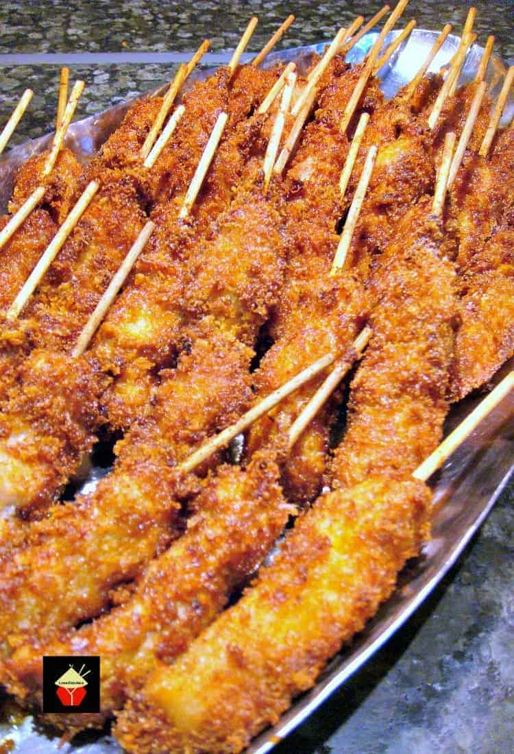 24 Tailgating Recipes You Can't Live Without! Breaded Chicken Skewers