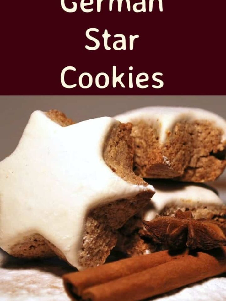 German Star Cookies, also known as Zimtsterne Cinnamon Cookies are a wonderful cookie for Christmas. They're crisp, chewy and spiced with all things nice! | Lovefoodies.com
