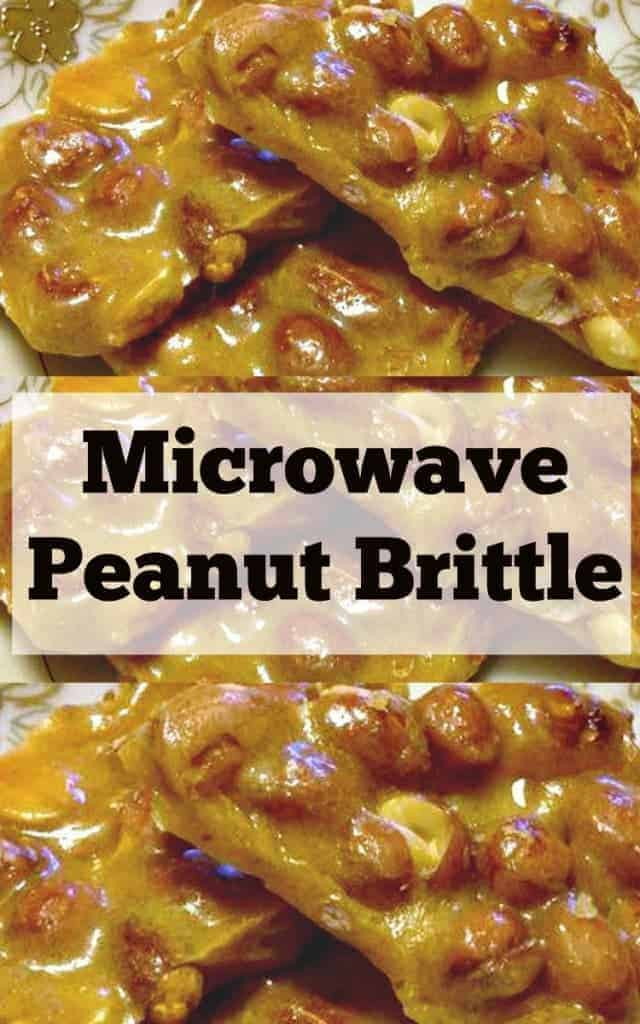 Microwave Peanut Brittle. A super easy and fuss free recipe. Perfect for the holidays and great for making ahead. Give as gifts or have all to yourself! | Lovefoodies.com