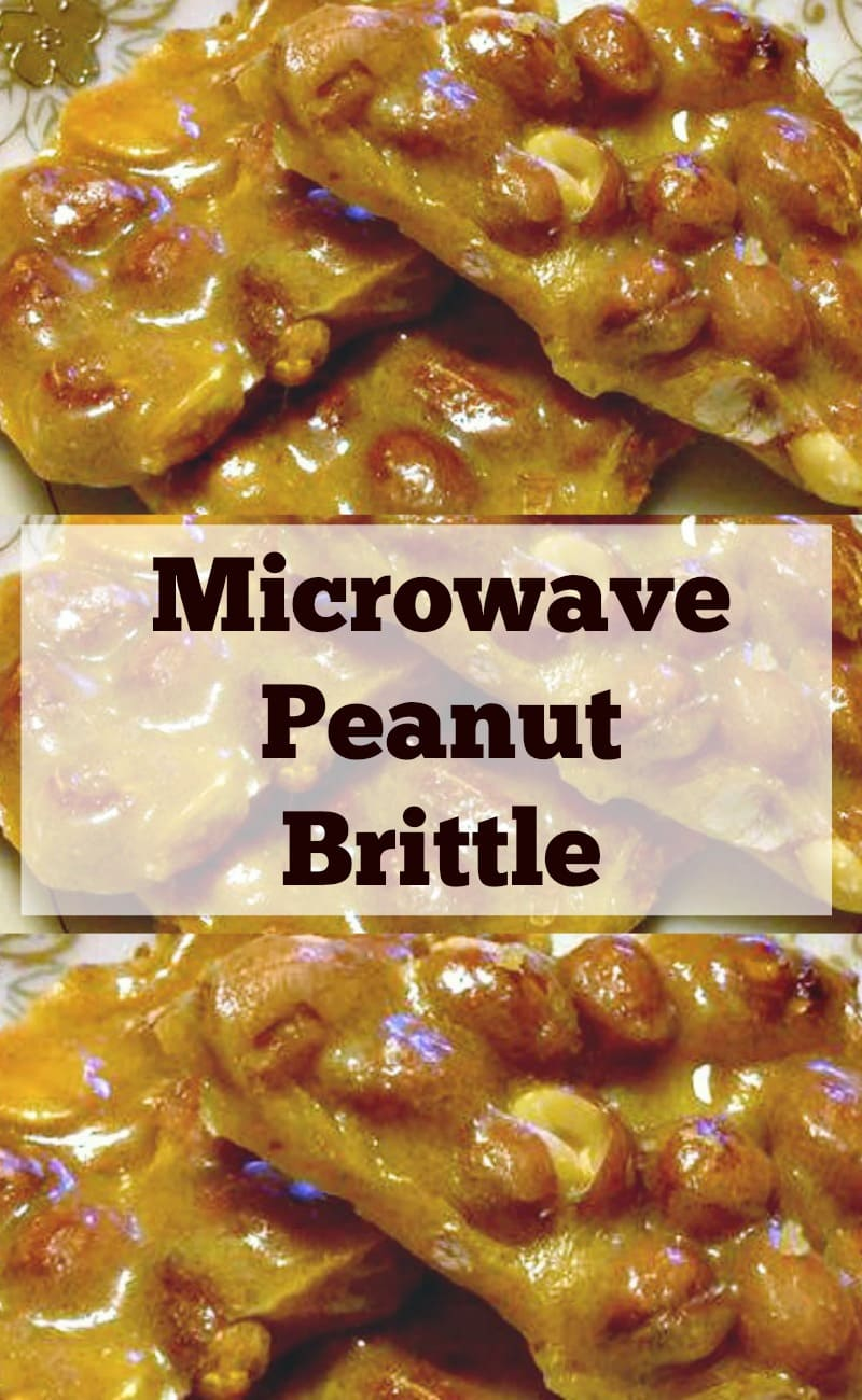 Microwave Peanut Brittle. A super easy and fuss free recipe. Perfect for the holidays and great for making ahead. Give as gifts or have all to yourself!   Lovefoodies.com