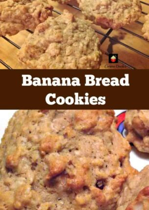 Banana Bread Cookies. Yep... banana bread in a cookie! Easy and flexible recipe. Great for snacks, breakfast, lunch boxes or anytime! | Lovefoodies.com