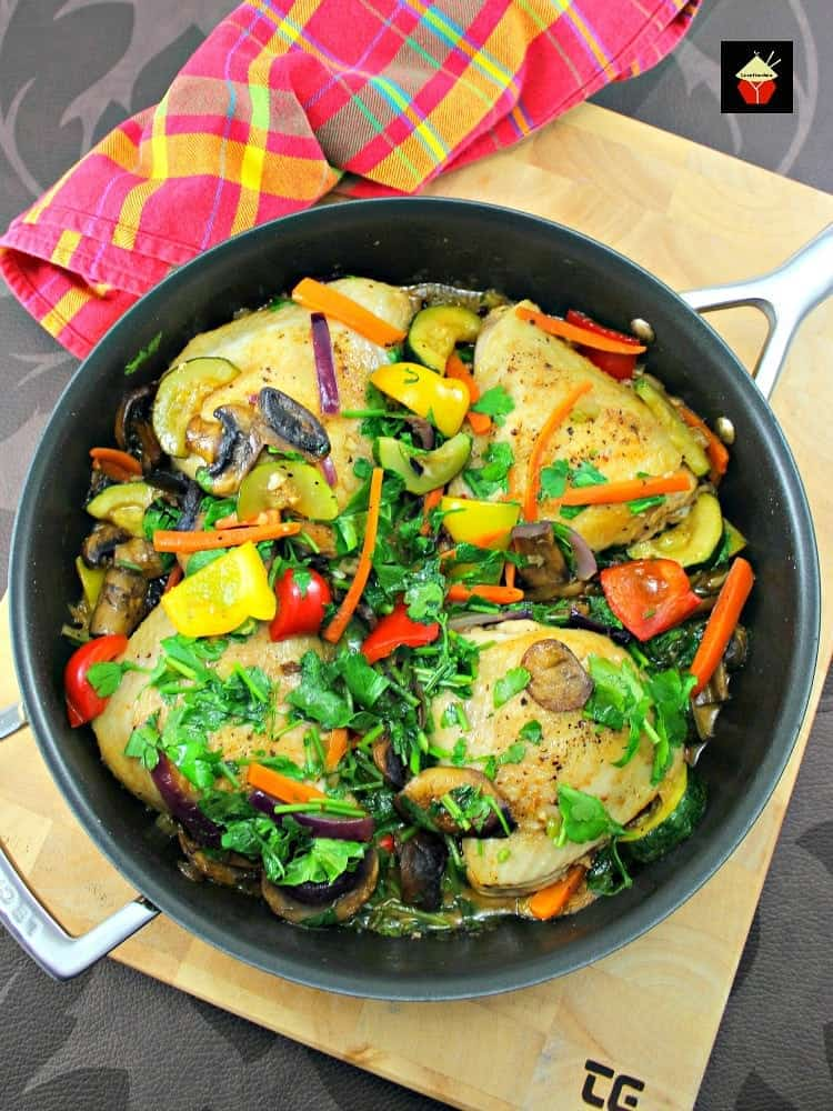 Chicken Skillet Dinner! This is a great recipe, suitable for a family meal or a dinner party.Yummy! | Lovefoodies.com