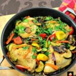Chicken Skillet Dinner! This is a great recipe, suitable for a family meal or a dinner party. Uses fresh ingredients to give you a full flavor, colorful and really tasty meal. Goes nice served with your favorite rice, pasta or cous cous. Yummy! | Lovefoodies