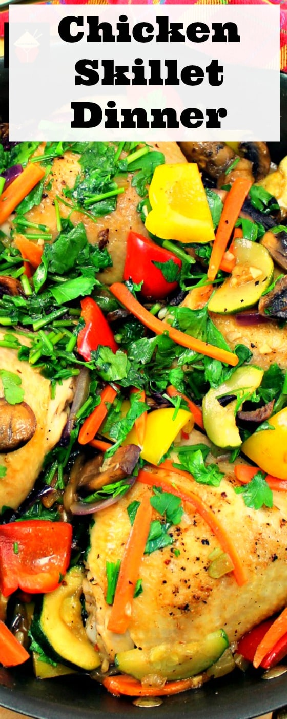 Chicken Skillet Dinner! This is a great recipe, suitable for a family meal or a dinner party.Yummy!| Lovefoodies.com