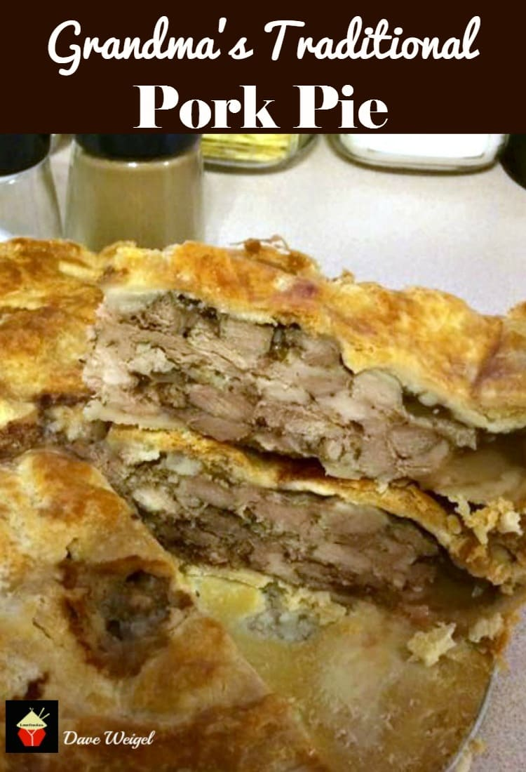 Grandma's Traditional Pork Pie. A wonderful traditional recipe with is crisp, crumbly pastry and filled with delicious pork. Serve chilled. great for parties, picnics, lunch boxes. | Lovefoodies.com