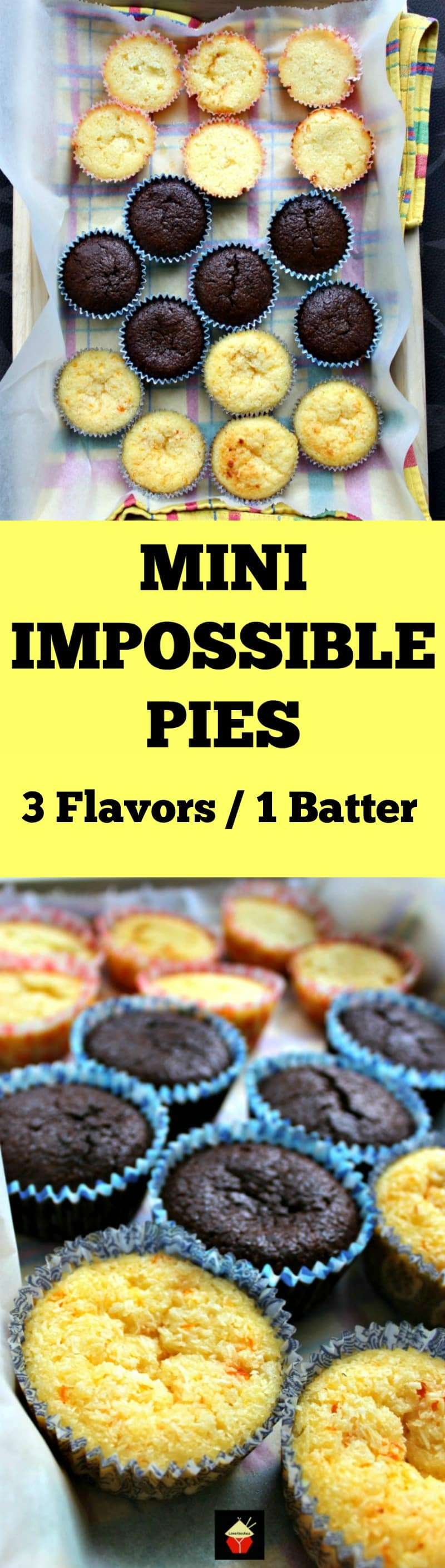 Mini Impossible Pies! Recipe for 3 different flavors using only 1 batter. Great for parties and always so popular!   Lovefoodies.com