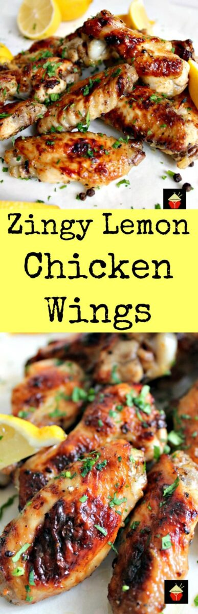 Zingy Lemon Butter Chicken Wings. These are lovely chicken wings with a zingy zangy flavor. Easy recipe, baked and oh so good! | Lovefoodies.com