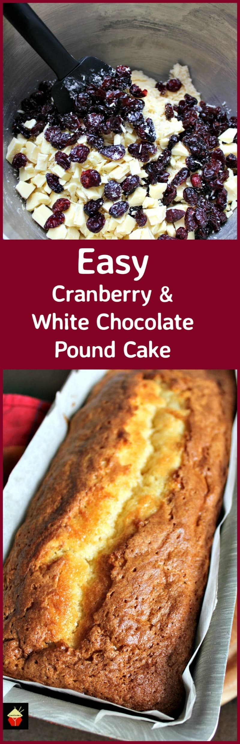 Easy Cranberry And White Chocolate Pound Cake Lovefoodies
