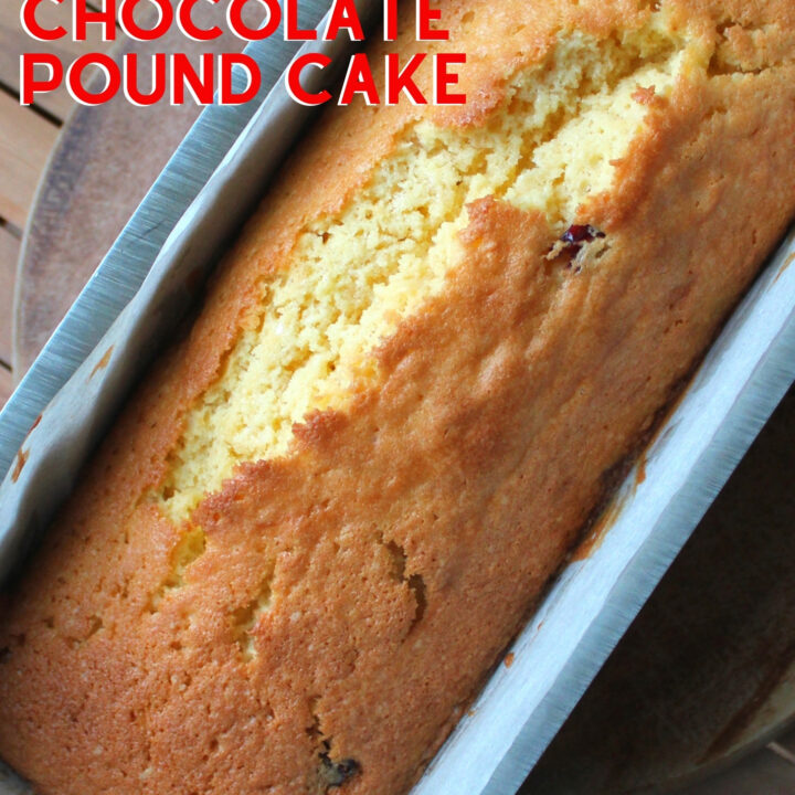 Easy Cranberry and White Chocolate Pound Cake. This is a deliciously soft and moist pound cake with a wonderful white chocolate flavor and added lovely cranberries. Freezer friendly and easy to make. Perfect for Thanksgiving and Christmas