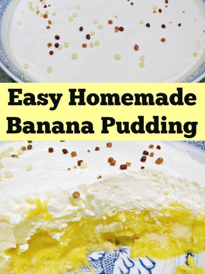 Easy Homemade Banana Pudding. This is a lovely recipe, easy to make and from scratch. Always a family favorite! | Lovefoodies.com