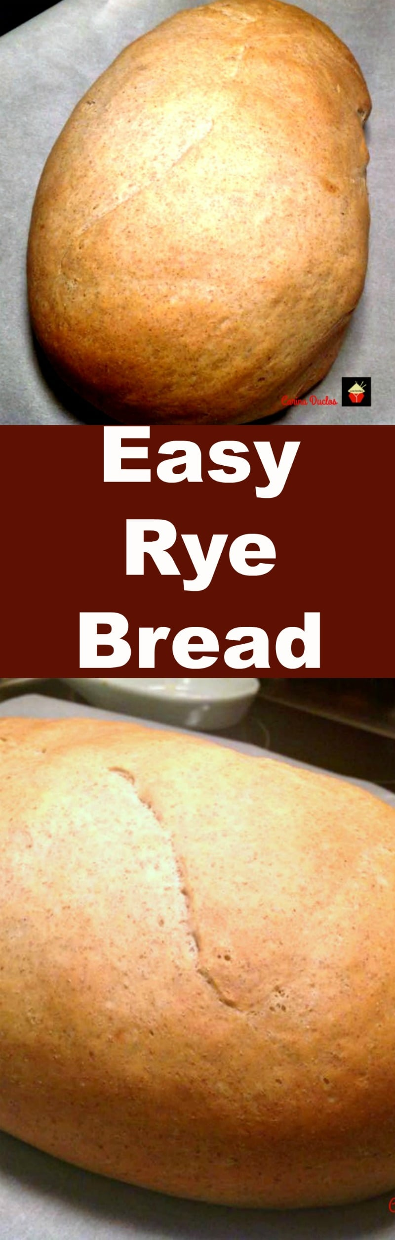 Easy Rye Bread. This is a lovely straightforward bread recipe for rye bread which gives you a soft bread texture. Great to eat on it's own or use for sandwiches. Freezer friendly too! | Lovefoodies.com