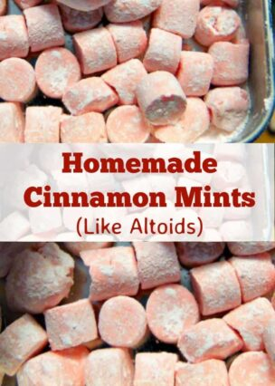 Homemade Cinnamon Mints are just like the famous Altoid mints, and have a curiously strong flavor. Easy and fun to make little candies!   Lovefoodies.com