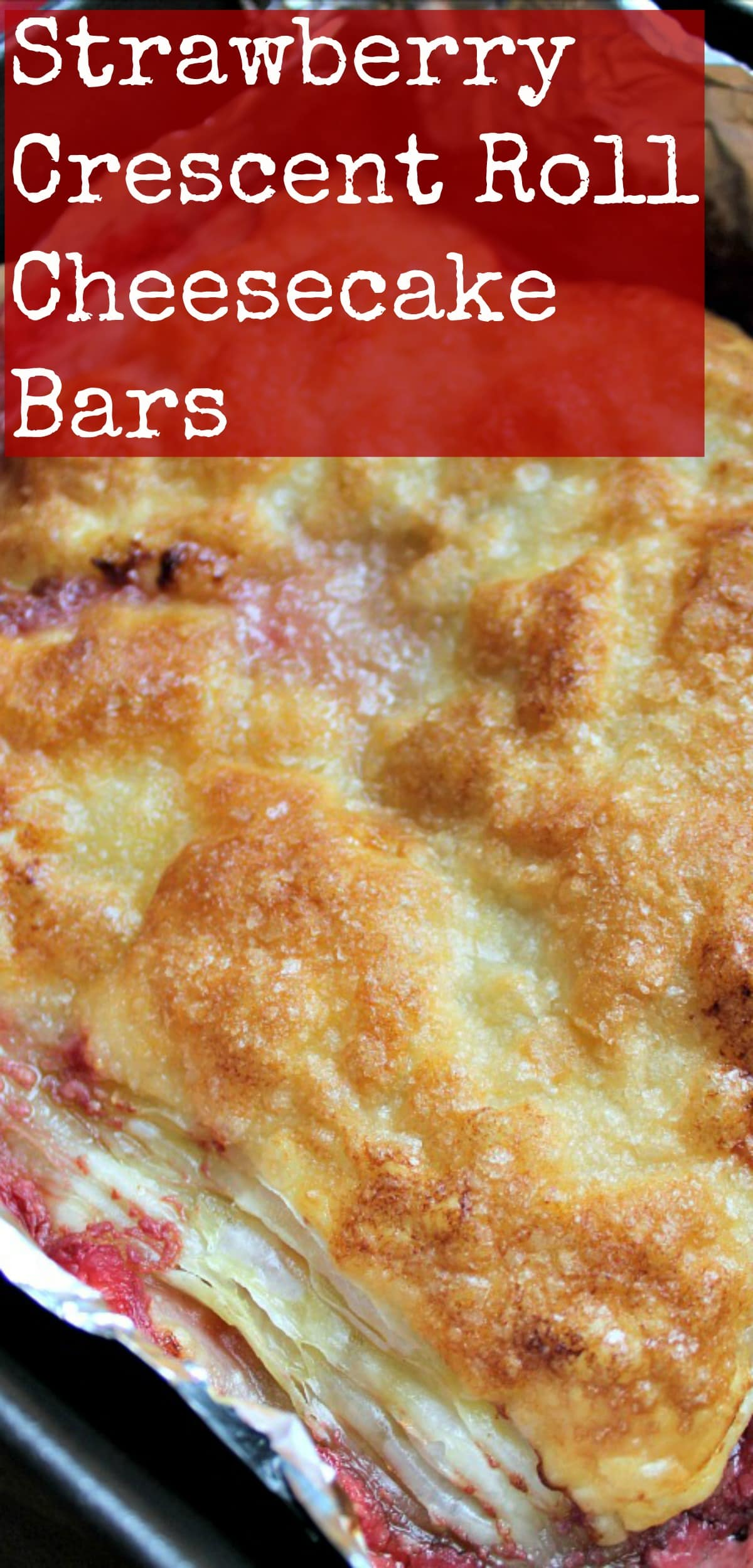 Strawberry Crescent Roll Cheesecake Bars An incredibly easy and fuss free recipe with cream cheese and strawberry filling sandwiched between layers of pastry. This tastes amazing!