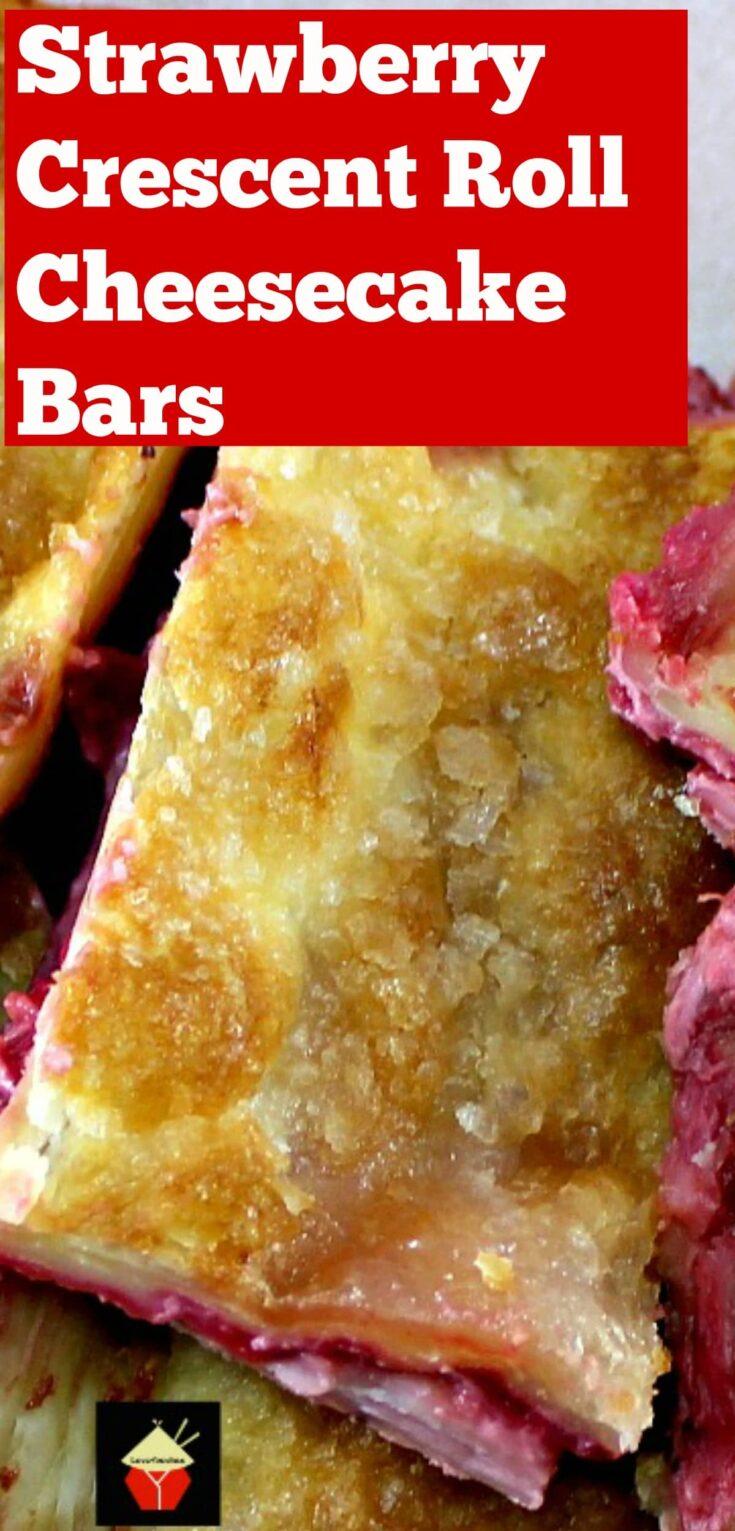 Strawberry Crescent Roll Cheesecake BarsP3