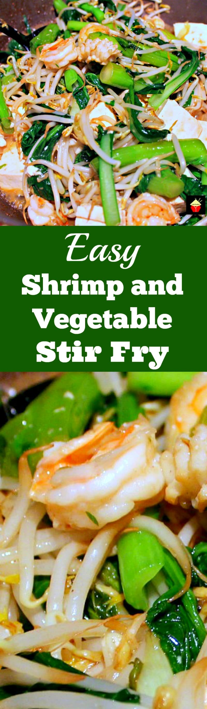 Easy Shrimp and Vegetable Stir Fry Additions of tofu, shrimp, and lovely Chinese vegatables quickly cooked in a delicious Asian sauce makes for a fantastic dinner | Lovefoodies.com