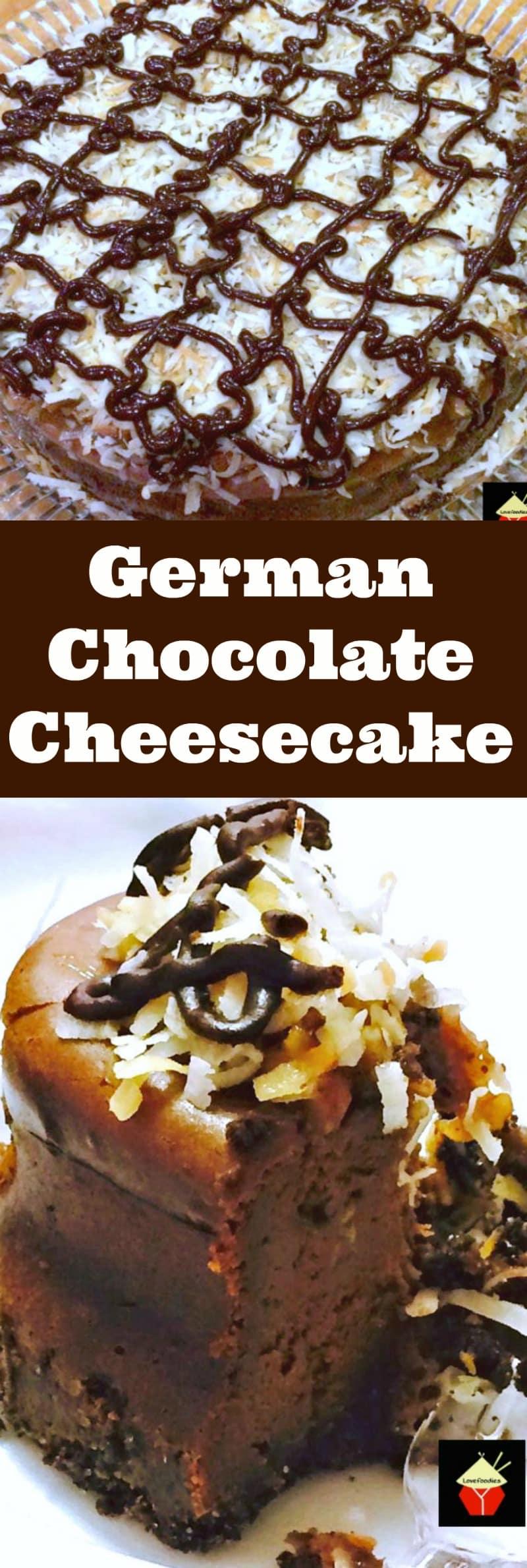 German Chocolate Cheesecake – Lovefoodies
