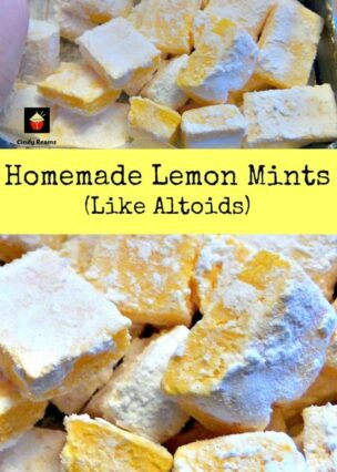 Homemade Lemon Mints are just like the famous Altoid mints, and have a curiously strong flavor. Easy and fun to make little candies!   Lovefoodies.com