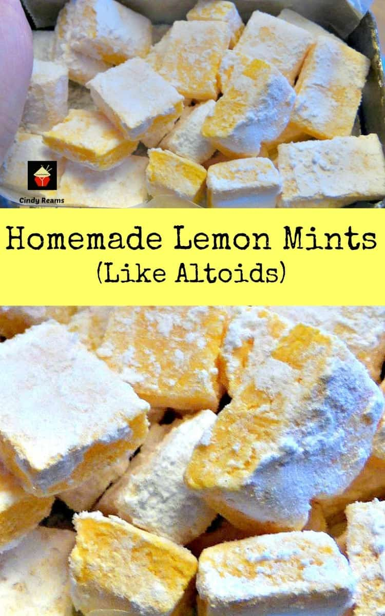 Homemade Lemon Mints are just like the famous Altoid mints, and have a curiously strong flavor. Easy and fun to make little candies! | Lovefoodies.com