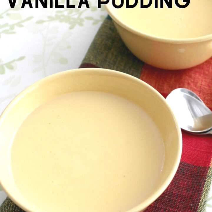 Homemade Vanilla Pudding is a wonderful recipe using fresh ingredients. You can't beat homemade!
