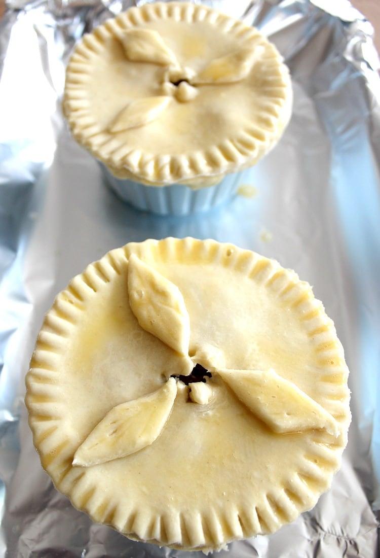 Creamy Chicken Stroganoff , put pastry on