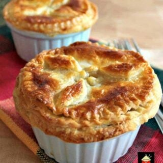 Mini Creamy Chicken Stroganoff Pot Pies